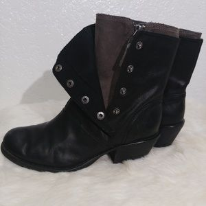 Luxury Rebel boots Beck Leather Snap Boots  Size 8